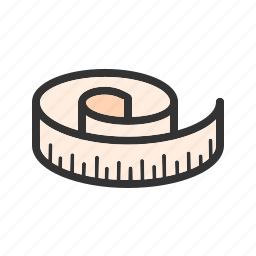 length, measure, measurement, meter, tape, work, yellow icon