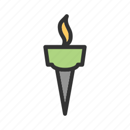 athlete, flame, olympic, olympics, shadow, sport, torch icon