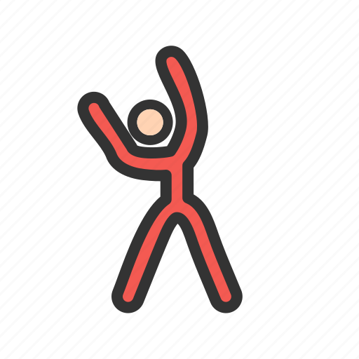 Athlete, exercise, fitness, gym, sports, standing, stretch icon - Download on Iconfinder