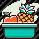 bucket, diet, fitness, food, fruit, healthy