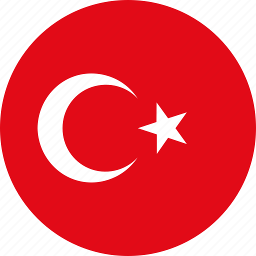 circle, country, emblem, flag, national, turkey icon