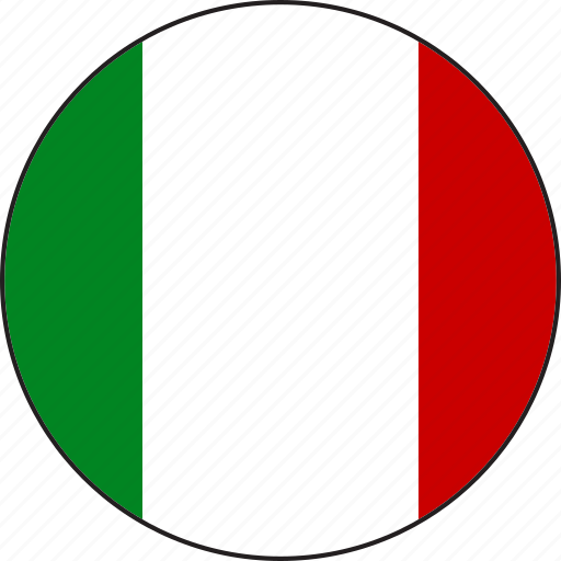circle, country, emblemc, flag, italy, national icon
