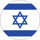 circle, country, emblem, flag, israel, national icon