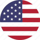 america, circle, country, emblem, flag, national icon