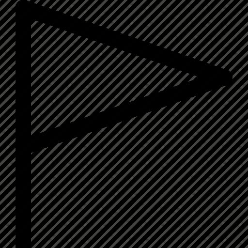 flag, location, sign icon