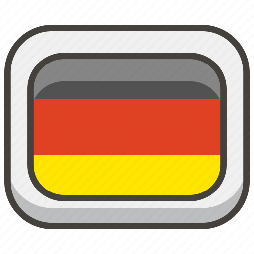 1f1e9, flag, germany icon