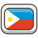 1f1f5, flag, philippines icon