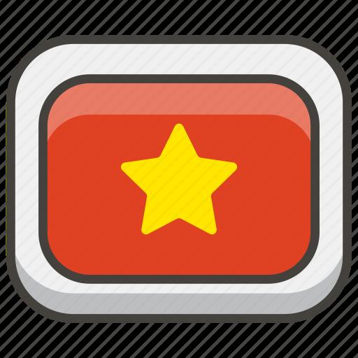 1f1fb, flag, vietnam icon