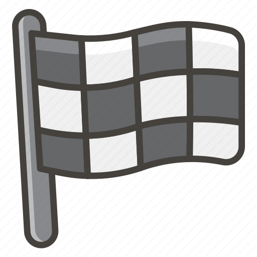 1f3c1, chequered, flag icon