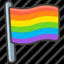 1f3f3, flag, rainbow icon