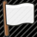 1f3f3, flag, white icon