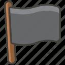 black, flag icon