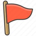 1f6a9, flag, triangular icon