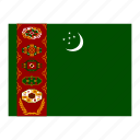 flag, flags, turkmenistan