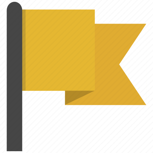 flag, warning, waving icon