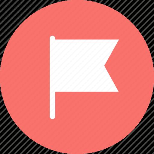 flag, important, location, mark icon