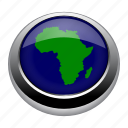 africa, atlas, earth, map, north, south, world icon