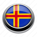 aland, badge, country, europe, flag, islands, nation icon