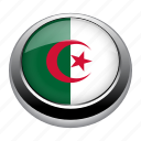 algeria, badge, country, flag, nation, national icon