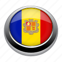 andorra, badge, country, flag, nation, national icon