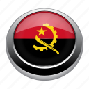 angola, badge, country, flag, nation, national icon