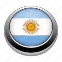 argentina, badge, country, flag, nation icon