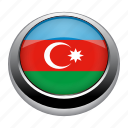 azerbaijan, badge, country, flag, nation icon