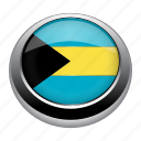 badge, bahamas, country, flag, nation icon