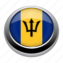 badge, barbados, country, flag, nation, national icon
