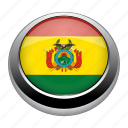 badge, bolivia, country, flag, nation, national icon