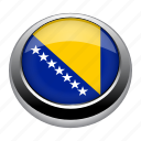 badge, bosnia, country, flag, nation, national icon