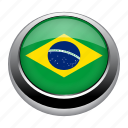 badge, brazil, brazilian, country, flag, nation, national icon