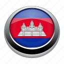 badge, cambodia, country, flag, nation, national icon