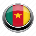 badge, cameroon, country, flag, nation icon