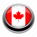 america, badge, canada, country, flag, isolated, nation icon