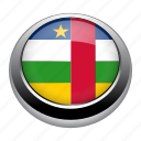 african, badge, central, central african republic, country, flag, republic icon