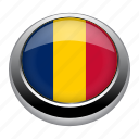 badge, chad, country, flag, nation icon
