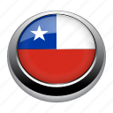 badge, chile, country, flag, nation icon