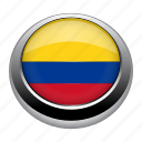 badge, colombia, country, flag, nation icon