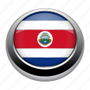 badge, costa, costa rica, country, flag, nation, rica icon