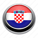 badge, country, croatia, flag, nation icon