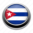 badge, country, cuba, flag, nation icon