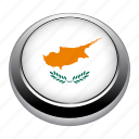 badge, country, cyprus, flag, nation icon