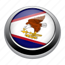 american, american samoa, badge, country, flag, national, samoa icon
