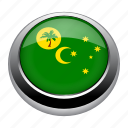 badge, cocos, cocos islands, country, flag, islands, nation