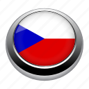 flag, czech, country, nation, flags, circle icon