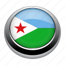 circle, country, djibouti, flag, flags, national icon