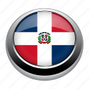 country, dominican, dominican republic, flag, flags, nation, republic icon