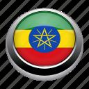 country, ethiopia, flag, flags, nation icon