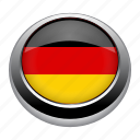 circle, country, flag, flags, germany, nation icon